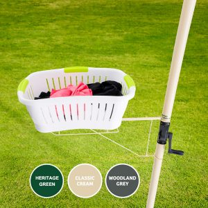 austral clothesline basket holder