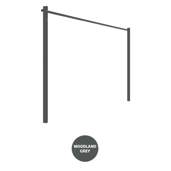 austral clothesline ground mount kit 24m grey