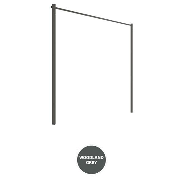 austral clothesline ground mount kit 33m grey