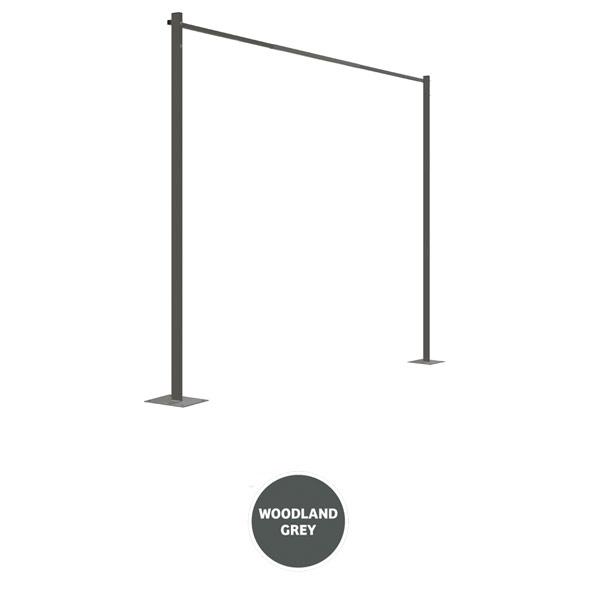 austral clothesline ground mount kit plated 33m grey