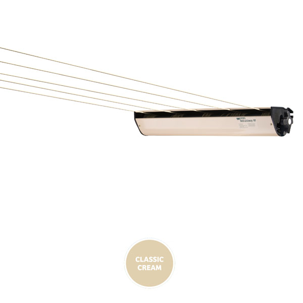 austral retractaway retractable clothesline cream 40