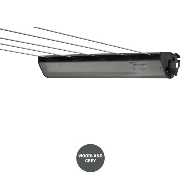 austral retractaway retractable clothesline grey 40