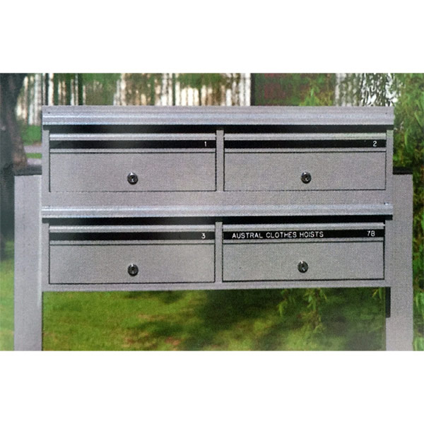 austral strata commerical letterbox white boxed