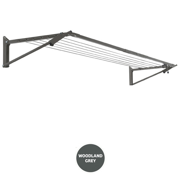 buy austral clotheslines slim fold down grey