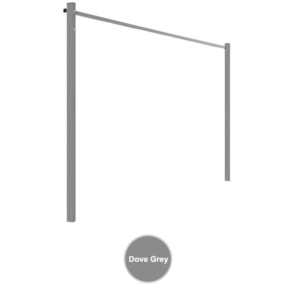 sunbreeze folding frame ground mount kit 2400 dove grey