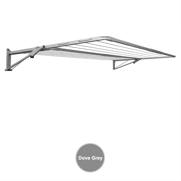 sunbreeze wall mounted clothesline double 2400x1200 dove grey closed