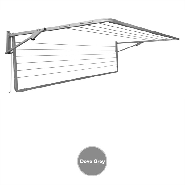 sunbreeze wall mounted clothesline double 2400x1200 dove grey