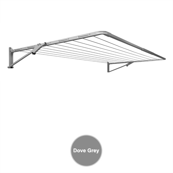 sunbreeze wall mounted single dove grey